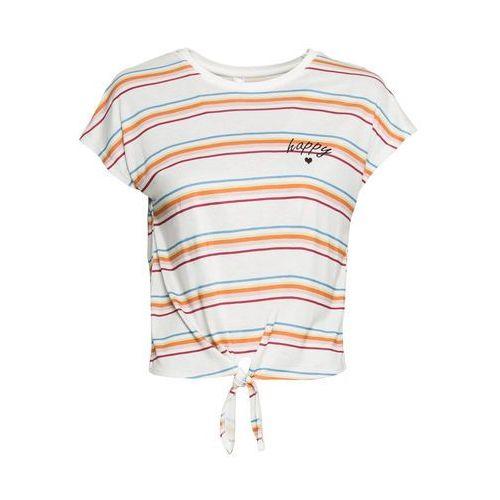 """Shirt """"boxy"""" + top (2 części) bonprix biało-zielony kiwi tygrys, kolor zielony"""