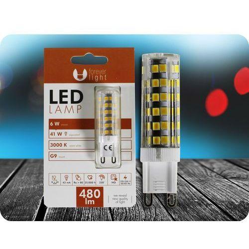 G9 LED ŻARÓWKA 6W (480LM) + Bezpłatna natychmiastowa gwarancja wymiany! Ciepła biała 3000K