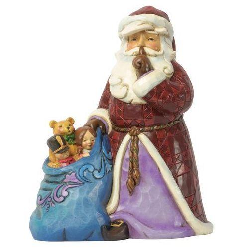 """Jim shore Mikołaj """"cicha nocna dostawa"""" silent night delivery (santa with toy bag) 4037599 figurka ozdoba świąteczna"""