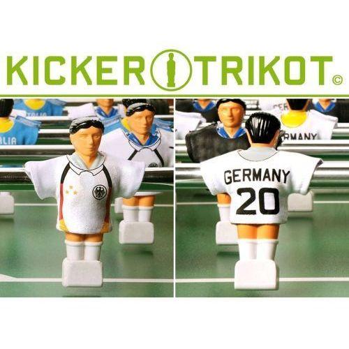 Komplet 11 koszulek reprezentacji państw dla postaci do piłkarzyków - Niemcy
