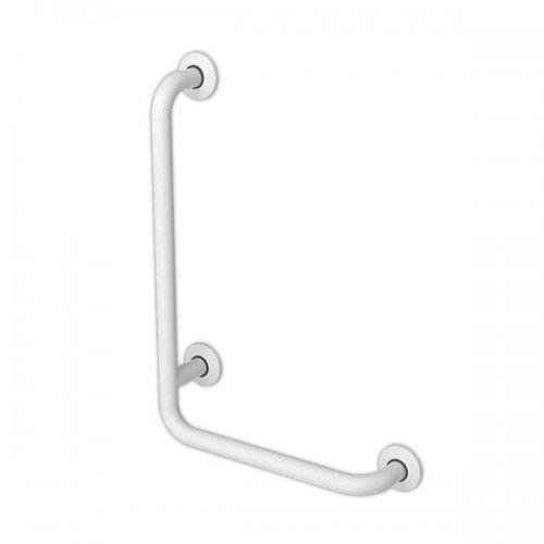 Poręcz dla niepełnosprawnych kątowa prawa 80/40cm, fi 32 cm marki Makoinstal