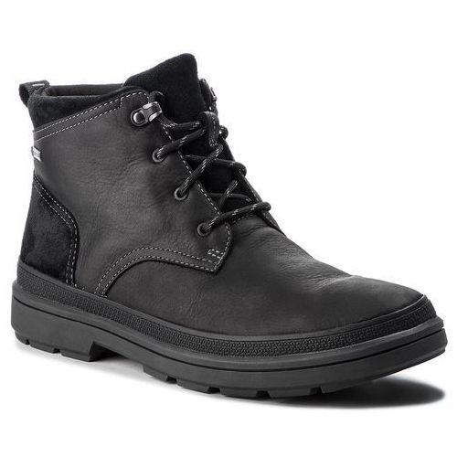 Kozaki - rushwaymid gtx gore-tex 261378587 blk tumbled leather, Clarks, 45-46
