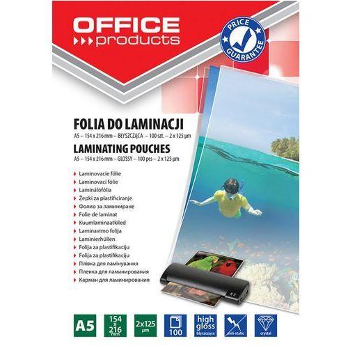 Office products Folia do laminacji a5 154x216 mm błyszcząca 100 sztuk transparentna - pbs connect polska