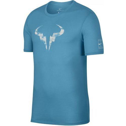 męska koszulka sportowa rafa m nk dry tee crew lagoon pulse white m marki Nike