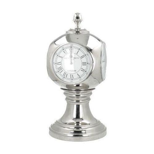 Dekoria Zegar stojący Station wys. 64cm silver, 64 cm