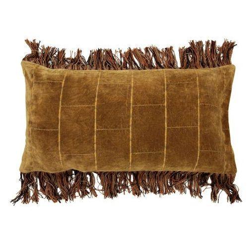HK Living Miękka poduszka z bawełny w kolorze brunatno-żółtym (35x70) TKU2035, TKU2035