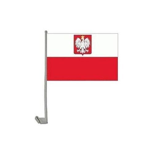 Go Flaga polski z dłem na okno samochodowe - 1 szt.