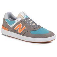 Sneakersy - am574pgo kolorowy szary marki New balance