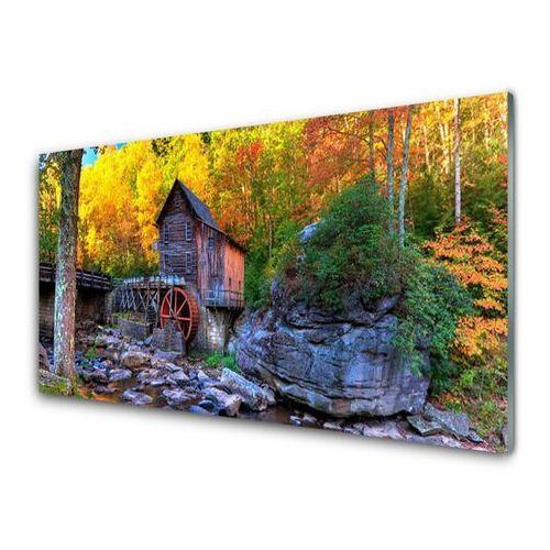 Tulup.pl Obraz akrylowy młyn wodny jesienny las