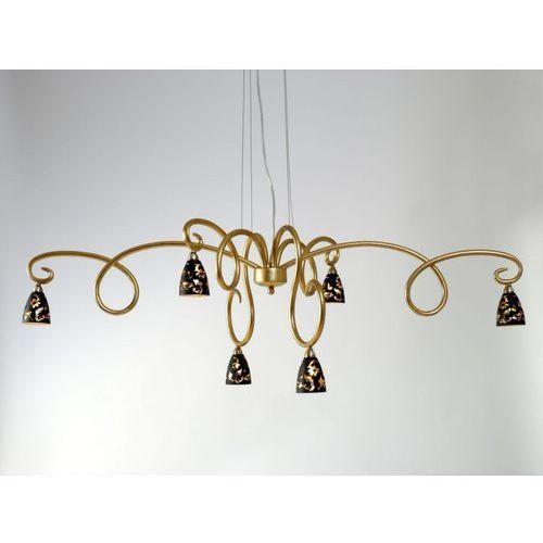 alice fiorire lampa wisząca złoty, 6-punktowe - design/klasyczny - obszar wewnętrzny - fiorire - czas dostawy: od 8-12 dni roboczych marki Holländer