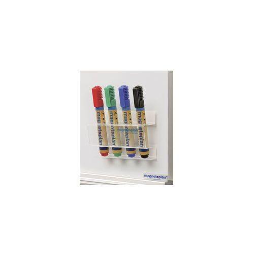 Magnetoplan Uchwyt akrylowy na markery do tablic magnetycznych