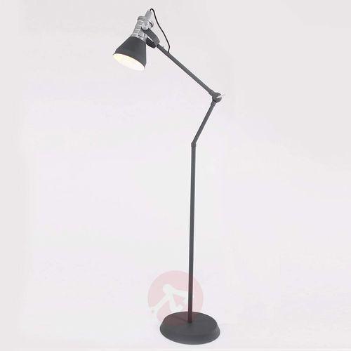 Steinhauer brusk lampa stojąca siwy, 1-punktowy - nowoczesny - obszar wewnętrzny - brusk - czas dostawy: od 6-10 dni roboczych