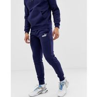 Puma Essentials skinny fit joggers in navy - Navy, kolor szary