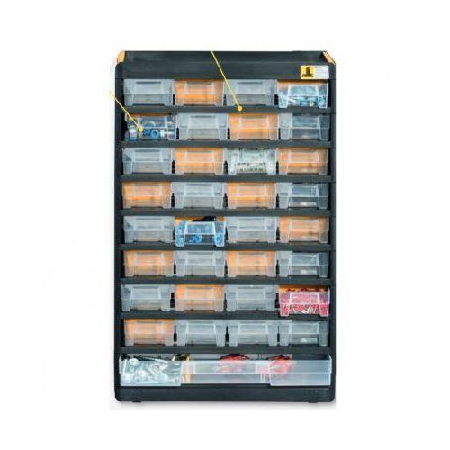 Plastikowe szafki z pojemnikami marki Allit