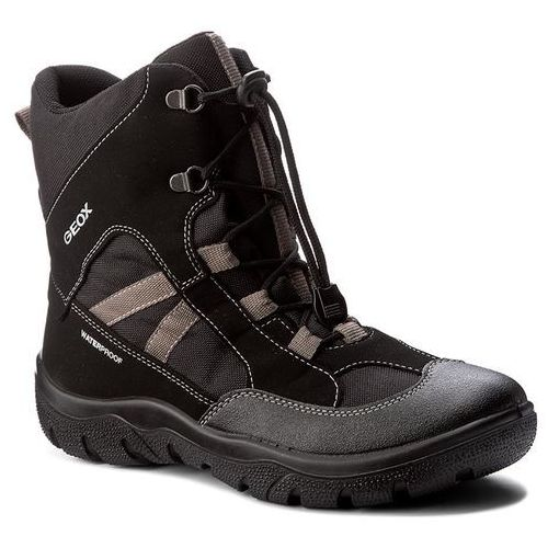 Śniegowce GEOX - J Clady B.B Wpf B J745MB 050FU C0017 D Black/Grey, kolor czarny