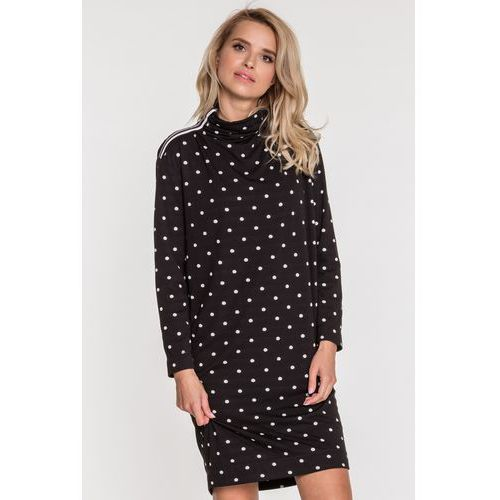 Sukienka w groszki Fryda - SU, kolor czarny