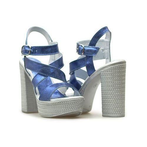 Sandały Simen 0783 VS14 Kryszt. Niebieski