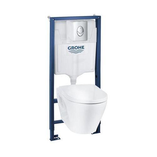 Zestaw podtynkowy WC Grohe Serel z miską bezkołnierzową i wolnoopadającą deską, 39583000