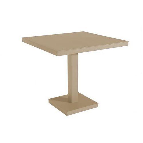 Resol Kwadratowy stół do kawiarni na jednej nodze barcino