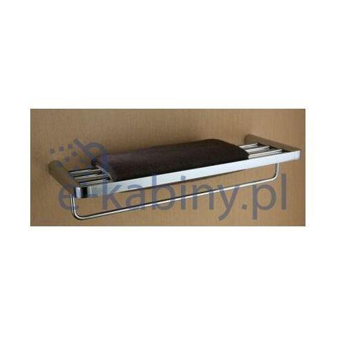 Półka ART PLATINO EMI-85012 na ręczniki z relingiem, 5901730614725
