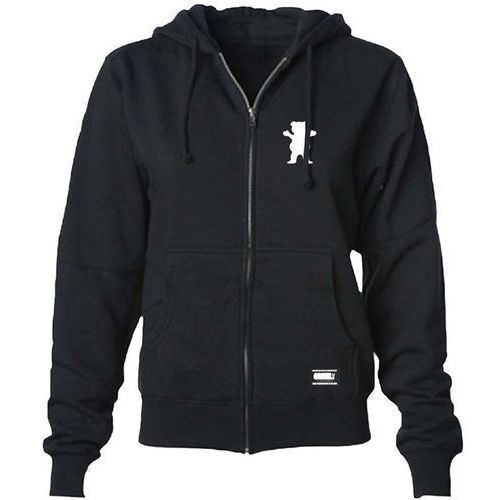 bluza GRIZZLY - Logo Youth Zip-Up Hoodie Black And White (BKWH) rozmiar: M, 1 rozmiar