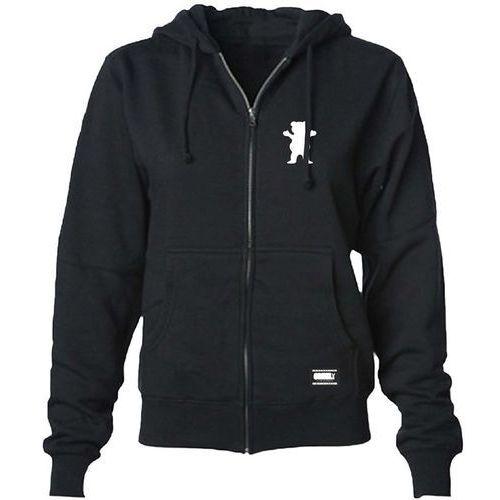 Bluza - logo youth zip-up hoodie black and white (bkwh) rozmiar: xl marki Grizzly