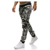 Spodnie męskie dresowe joggery moro-szare Denley KK09, kolor szary