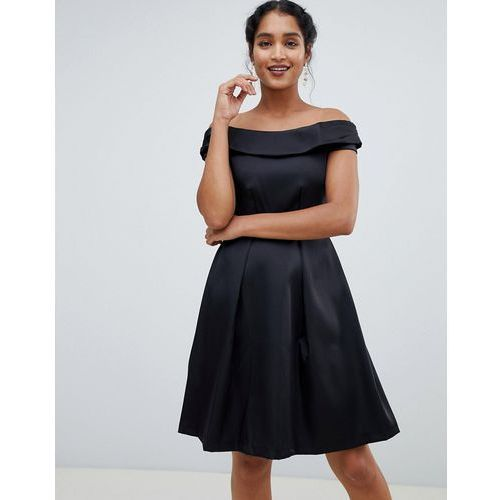 off the shoulder dress - black marki Closet london
