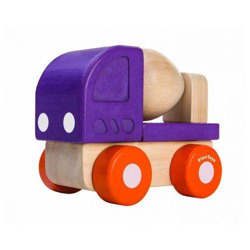 Drewniane mini autko - betoniarka z ruchomą gruszką, Plan Toys, PLA3292
