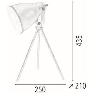 Spotlight Stojąca lampa sztalugowa marla 7010102 metalowa lampka biurkowa na trójnogu biała