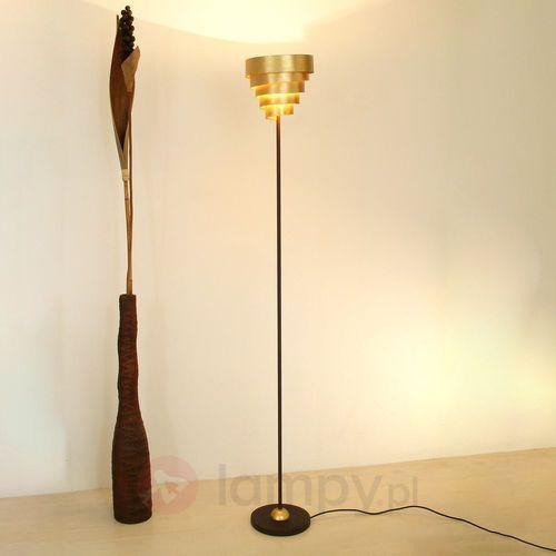 Holländer BANDEROLE lampa stojąca Brązowy, złoty, 1-punktowy - Nowoczesny - Obszar wewnętrzny - BANDEROLE - Czas dostawy: od 8-12 dni roboczych (4250151314716)