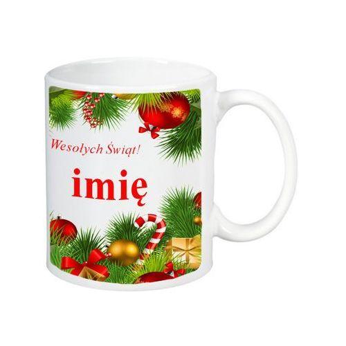 Kubek z twoim imieniem kubki prezent na mikołaja - kn-bnz01 marki Inny
