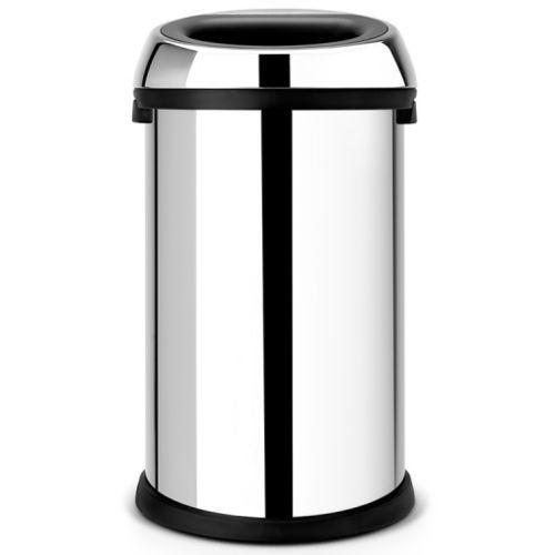Brabantia Kosz na śmieci 50 litrów open top bin stal szlachetna połysk
