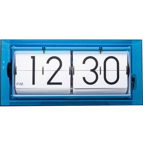 Zegar klapkowy / stołowy Big Flip Clear Nextime niebieski (5209 BL), kolor niebieski
