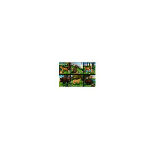 Klocki 16 elementowe Zwierzęta pól i lasów / zielone