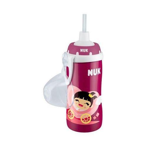 Nuk Kubek ze słomką FLEXI CUP, 300ml (+ 18 ms) czerwień róż, NN-ANU-BIS4-006