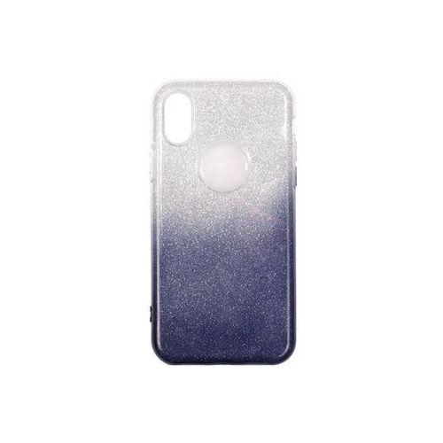 Apple iPhone X - etui na telefon Forcell Shining – granatowe ombre, ETAP611FLSGODB000
