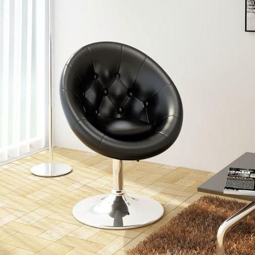 Krzesło klubowe ze skóry syntetycznej, czarne, kolor czarny