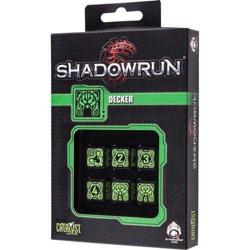 Komplet Kości Shadowrun - Decker - Czarno-zielony (5907699492923)