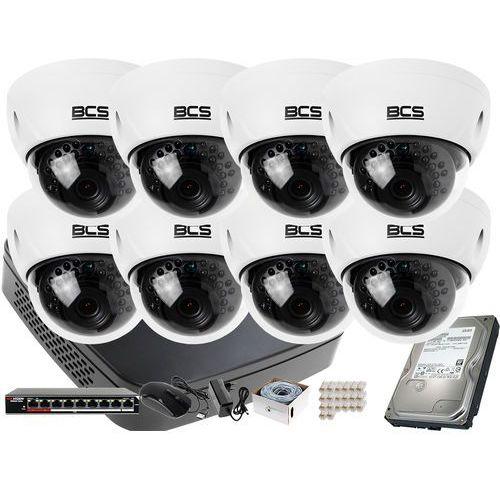8x -dmip3200ir-e-iv zestaw monitoringu bcs-nvr08015me-ii dysk 1tb akcesoria marki Bcs