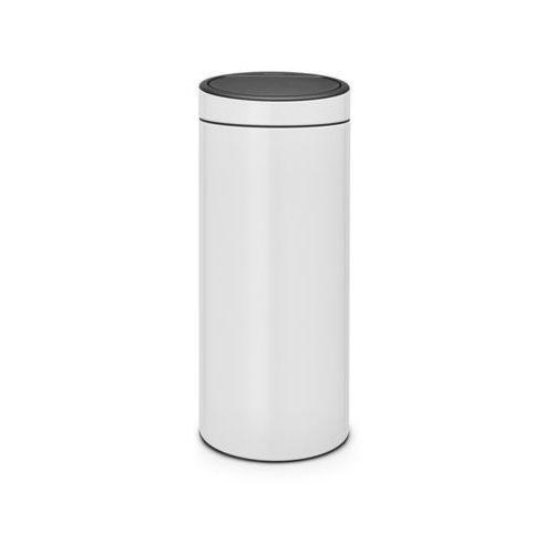 Brabantia - Kosz Touch Bin - 30 l - plastikowe wiaderko - biały - biały