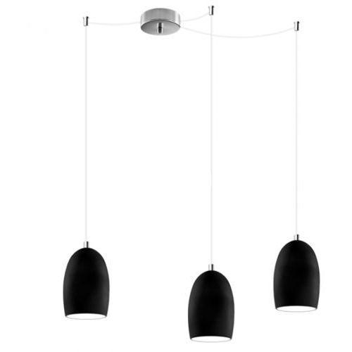 LAMPA wisząca UME 3/S/BLACK MATTE/OPAL Sotto Luce szklana OPRAWA nowoczesna ZWIS czarny matowy (1000000210361)