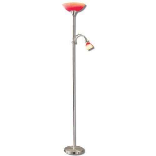 Lampa podłogowa Eglo UP 4 86654 oprawa stojąca 1X100W E27 + 1X40W E14 satyna