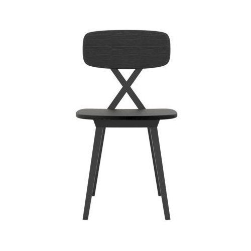 QeeBoo Krzesło X drewniane czarne 16001BW, 16001BW