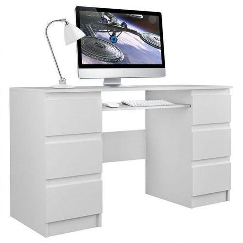 Tes Biurko komputerowe tuba 6 szuflad na klik biały mat (5902838464359)