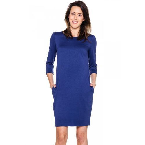 Prążkowana sukienka z kieszeniami - marki Carmell