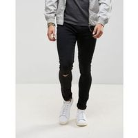 LDN DNM Black Spray On Jeans with Knee Rips - Black, jeans