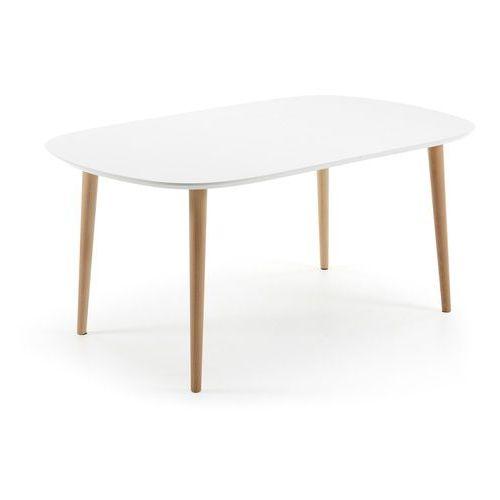 LaForma:: Rozkładany biały stół Oakland 160-(260) x 100 cm - wzór 3