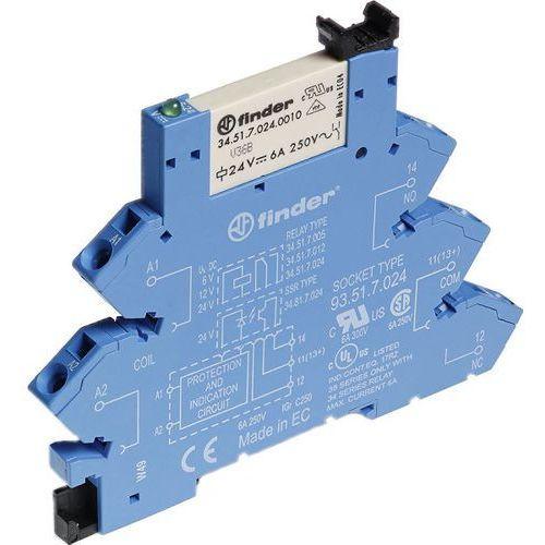 Finder przekaźnikowy moduł sprzęgający 1p 6a 24v dc, 38.61.7.024.0050 (8012823231907)