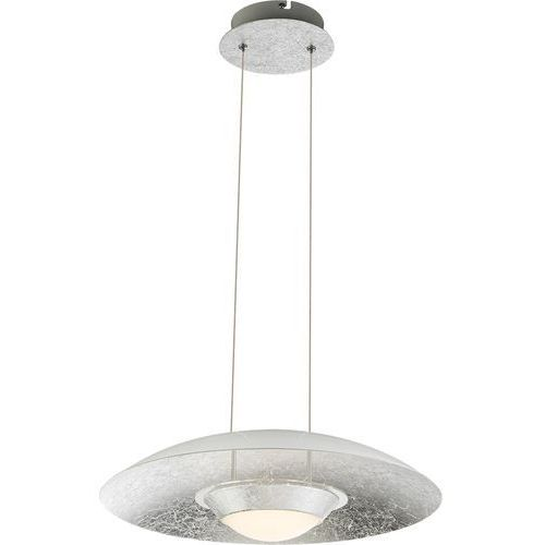 Lampa wisząca Globo Atna 41903H lampa sufitowa zwis 1x18W LED srebrny / biały (9007371364145)